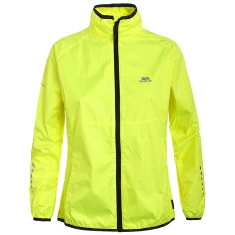 high visibility waterproof cycling jacket trespass womens hi visibility jacket cycling outdoor