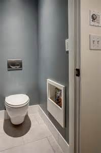 Toilet room with magazine rack craftsman powder room seattle by board and vellum