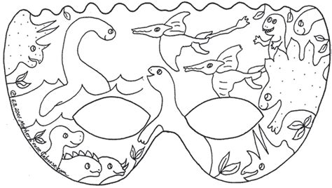 dinosaur mask template dinosaur printable coloring masks coloring pages