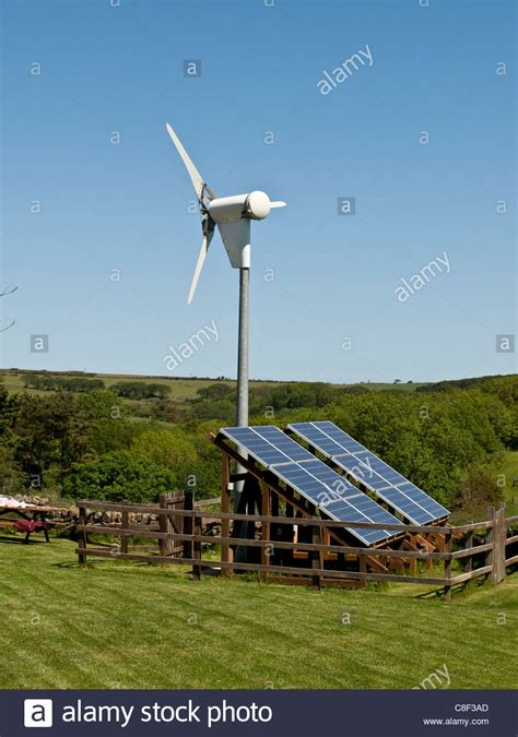 small wind turbine and solar panel array uk