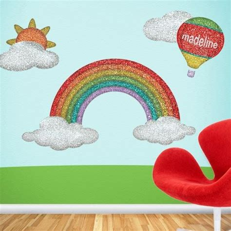 rainbow stickers for walls disco rainbow wall sticker decals to create a colorful mural