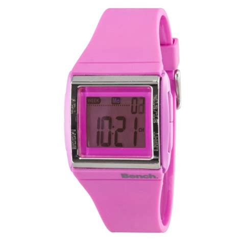 bench watches for women bench women s digital pink strap watch
