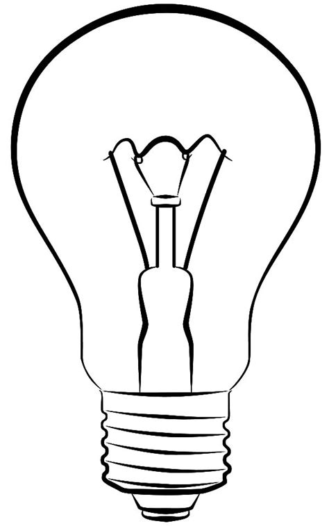 Free Printable Light Bulb Coloring Page Light Bulb Coloring Pages by Free Printable Light Bulb Coloring Page