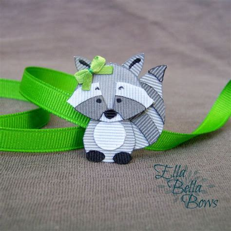 how to make ribbon animal sculptures woodland raccoon ribbon sculpture hair clip woodland