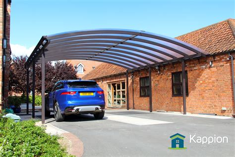 ultra wide carport canopy installed  newark kappion carports