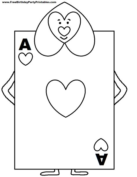 Free Playing Cards Coloring Pages Pages Card Templates