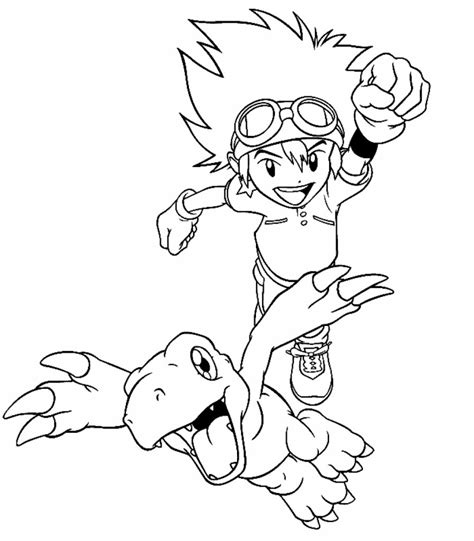 Free Printable Digimon Coloring Pages For Kids Printable Color Page