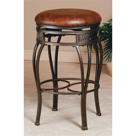 hillsdale montello backless bar stools kitchen leather hillsdale montello 26 inch swivel