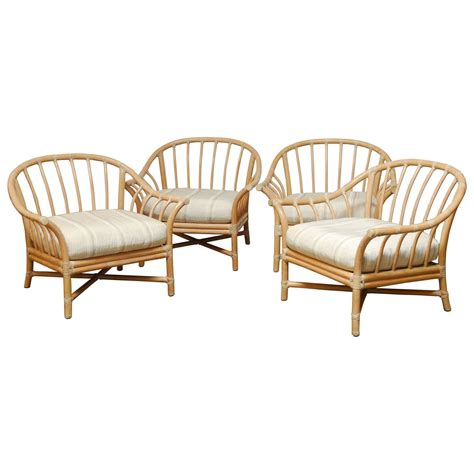 set of four oversized mcguire bamboo lounge chairs at 1stdibs