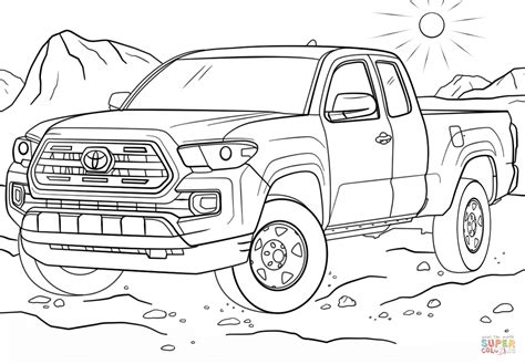 coloring pages toyota cars toyota tacoma coloring page free printable coloring pages