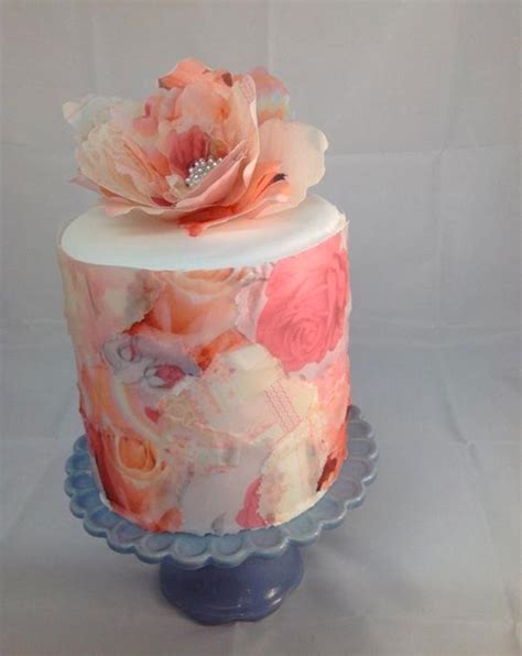 How To Make Edible Rice Paper - the prettiest trend of the year delicate rice paper cake