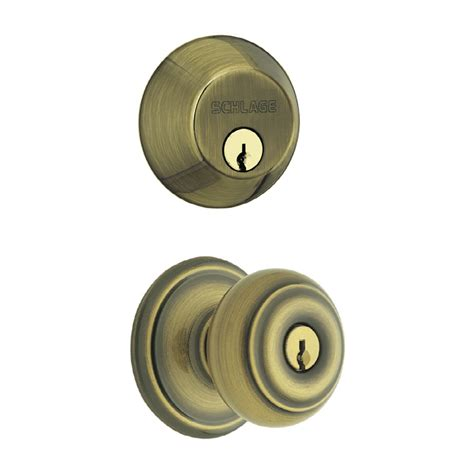 Exterior Door Knobs And Locks Shop Schlage Keyed Entry Door Knob At Lowes