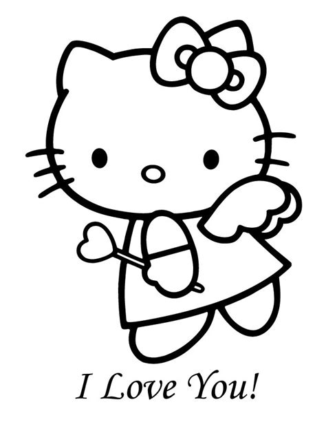 valentines day coloring pages hello kitty print hello kitty coloring pages angle hello kitty angel
