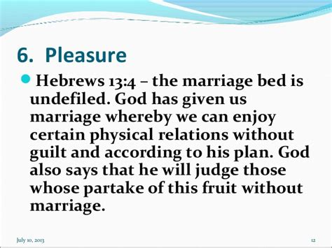 the marriage bed is undefiled 10 ps for marriage