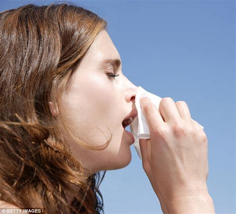 sneezing and runny nose hay fever relief app gives sufferers tips to alleviate symptoms daily mail