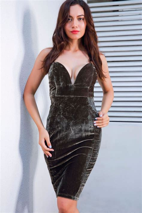 army green strapless sweetheart bodycon backless sexy