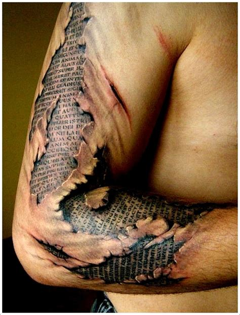 ripped skin tattoo free tattoo design