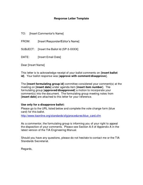 Business Letter Response To sle business reply letter the letter sle