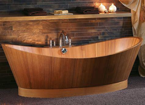 teak bathtub wooden bathtubs for modern interior design and luxury