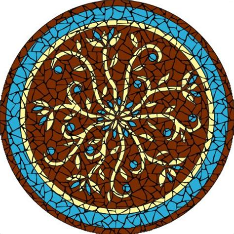 mosaic pattern kits completed indian flowers burgundy mosaic mandala kit