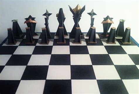 Origami Chess Pieces - origami chess on behance