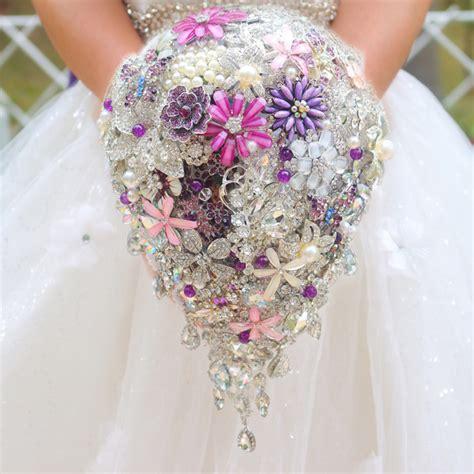 Wedding Bouquet Teardrop by Purple Bridal Brooch Bouquet Wedding Bouquet