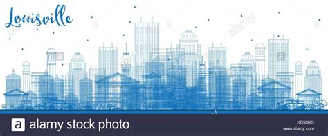 Louisville Ky Skyline Outline by Usa Kentucky Louisville City View Stock Photos Usa Kentucky Louisville City View Stock Images