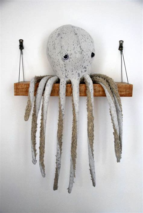 Handmade Animals - oversized handmade plush octopus stuffed animal eco