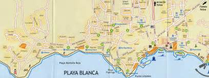 playa map large playa blanca maps for free and print high resolution and detailed maps