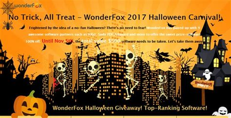 Halloween Software Giveaway - wonderfox halloween giveaway grab software worth 500 for free