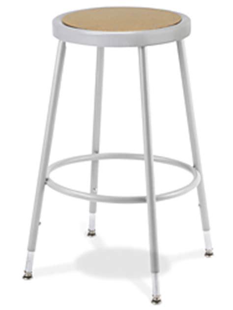 shop stool metal with adjustable legs h 2506 uline