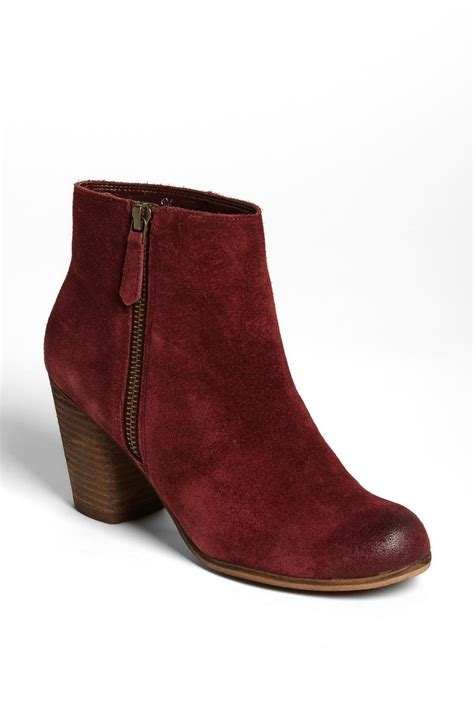 burgundy suede boots bp trolley suede ankle boot in burgundy suede lyst