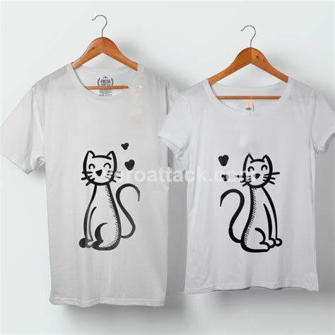 Custom Made Shirts For Couples Cats In Tshirt Size S To 5xl Shirts For