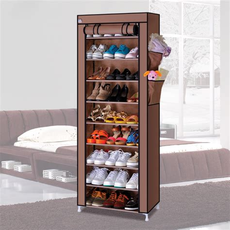 closed shoe storage special 10 layer dust shoe storage cabinet closed zipper