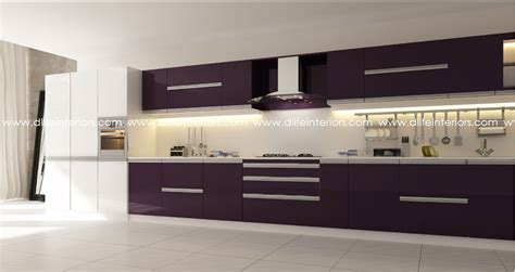 one wall kitchen designs with an island
