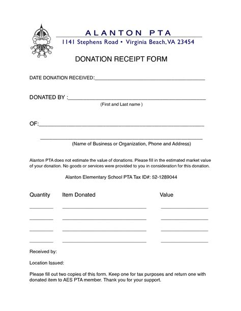 best photos of non profit donation receipt template