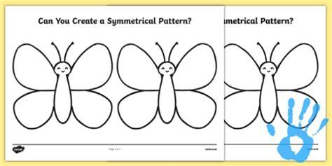 ssm pattern in math create a symmetrical butterfly pattern fingerprint worksheet