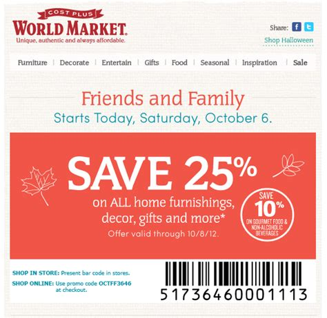 world market coupons 10 food 25 home decor