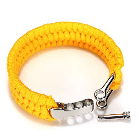 Bracelet Gelang Perusik Paracord 7 7 strands paracord bracelet string cord ring with release shackle buc us 3 29