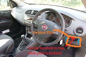 Fiat 500 Obd Location Technical Picture Of The Obd2 Port The Fiat Forum