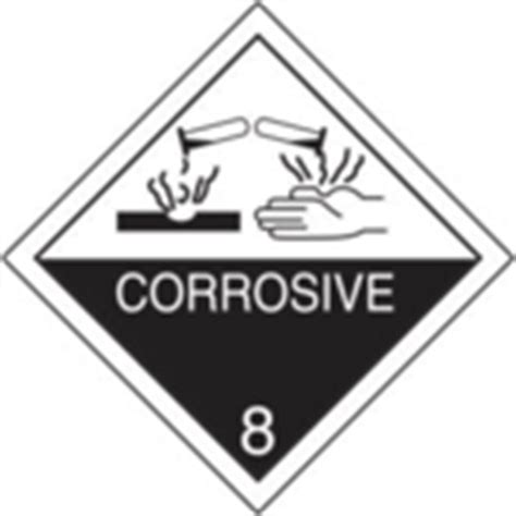 printable corrosive label corrosive 8 d o t label d o t shipping labels