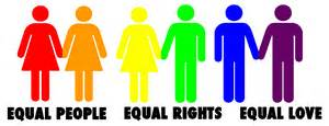 Equal people equal rights equal love transparent