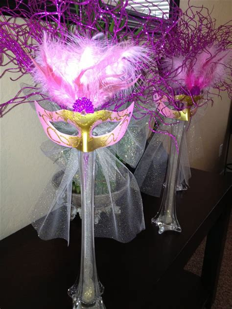 sweet sixteen centerpiece ideas masquerade centerpiece made it for my sweet 16 masquerade