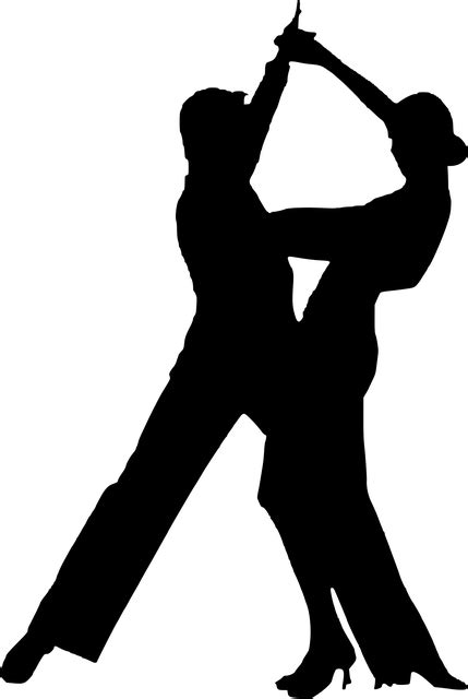 Silhouette Dancing Couple · Free vector graphic on Pixabay
