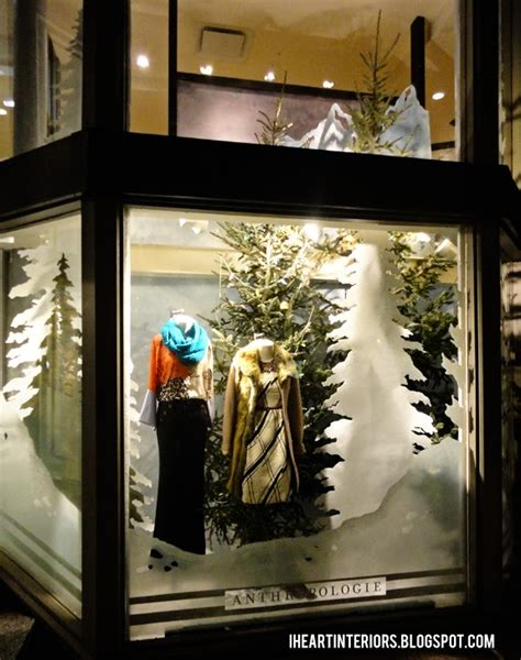 i heart interiors anthropologie window display let it snow