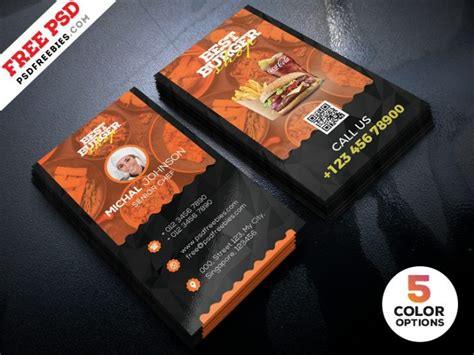 restaurant business cards templates free free restaurant business card template psd