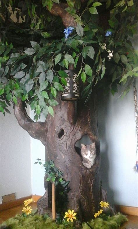 real tree or fake foe cats cat trees that look like real trees hiddenhollowcattrees page 3