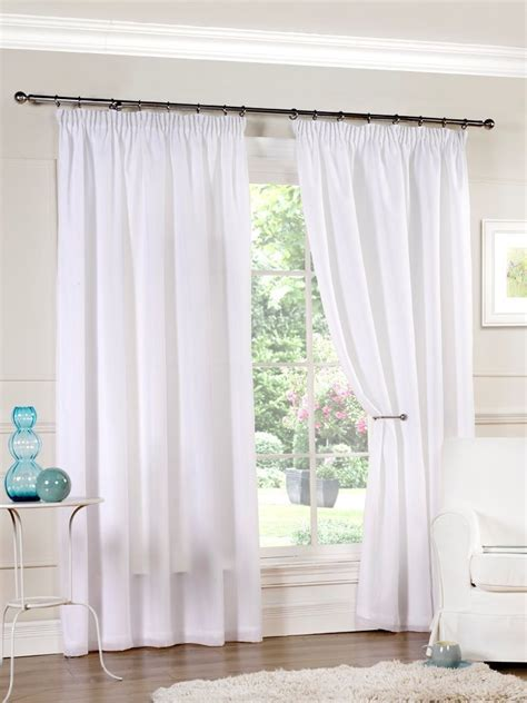 white luxury curtains white lined voile luxury curtains 3 inch header tape