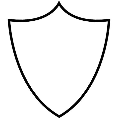 shield outline template shield simple outline at vectorportal