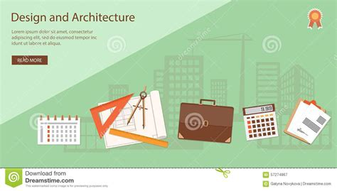 banner design work banner for architecture and design stock vector image